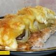 Ingrediente: -2 bucati depiept de pui -5-6 felii bacon taiat in bucatele -100 g ciupeci -2 ardei capia -100 g cascaval -sare, piper negru Cum pregatim: 1.Fiecare parte a pieptului […]