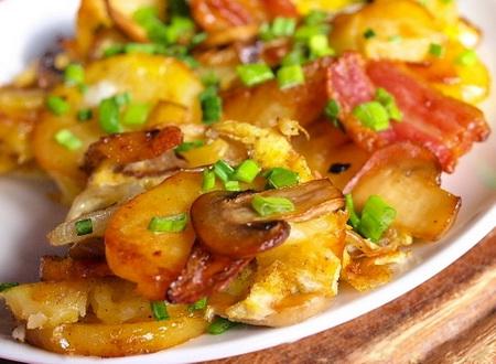 ciuperci cu cartofi