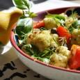 Ingrediente: -o conopida mijlocie -cartofi -500 g -ulei -3 linguri -mustar-2 linguri -usturoi, sare, suc de lamaie – dupa gust  Cum pregatim: – Se fierb cartofii in coaja, […]