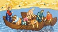 """""""În vremea aceea Iisus şedea lângă lacul Ghenizaret şi a văzut două corăbii oprite lângă ţărm, iar pescarii, coborând din ele, spălau mrejele. Atunci El, urcându-Se într-una din corăbii, care […]"""